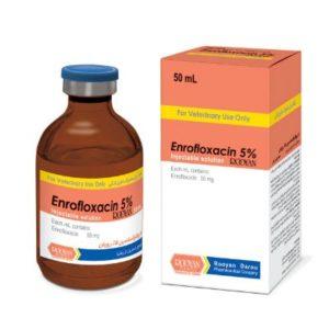 انروفلاکساسین 5% رویان   Enrofloxacin 5% Rooyan