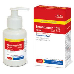 انرو فلوكساسين 10% رویان (پمپ) | Enrofloxacin 10% Rooyan